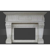 Antique Granite Fire Place