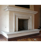 Antique Granite Fireplace Mantel