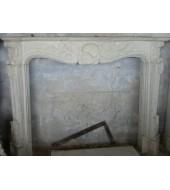 Antique Sandstone Fireplace