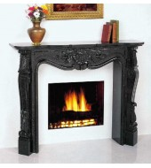 Black Granite Fireplace