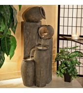 Brown Indoor Sandstone Fountain