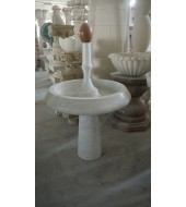 Antique Outdoor White Marble Fountain