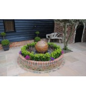 Brown Sandstone Ball Fountain
