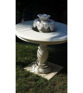 Antique Garden White Marble Fountain