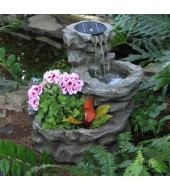 Antique Grey Garden Fountain