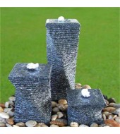 Antique Grey Stone Garden Fountain