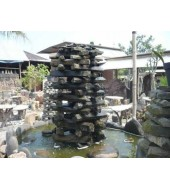 Grey Mix Stone Garden Fountain