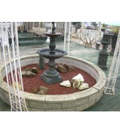 American Green Granite Garden Fountain
