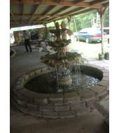 Bidaser Green Granite Decorative Fountain