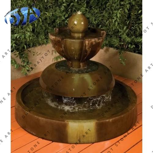 Brown Limestone Fountain