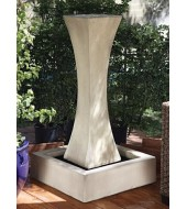 Offwhite Semi Carved Fountain