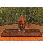 Red Granite Buddha Water Fountain