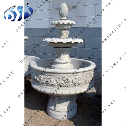 Sandstone Carved Outdoor Decor Garden Fountains