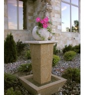 Yellow White Granite Garden Fountain