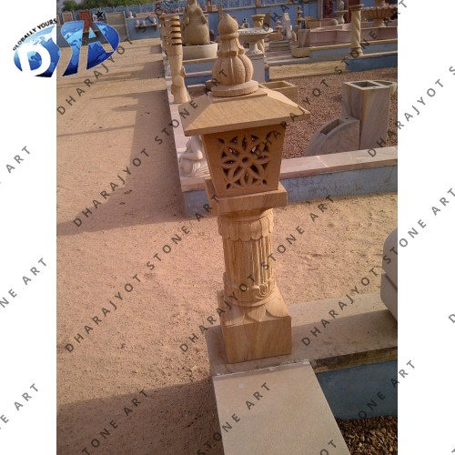 Carved Marble Outdoor Garden Light