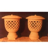 Yellow Sandstone Small Lamps