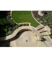 Mint Coloured Circle And Patio Paving