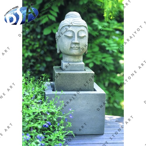 Carved Buddha Head Sculpture Water Fountains