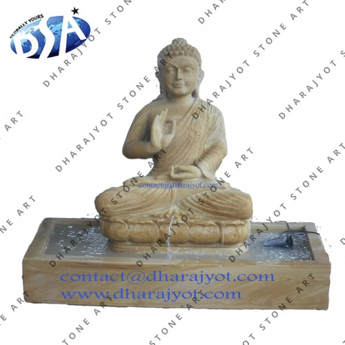 Carved Buddha Statue Water Fountains
