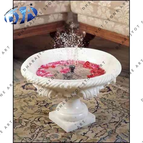 Carved Marble Small Table Fountain