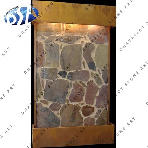 flag stone slate wall fountains indoor - Slate Wall Fountains Indoor