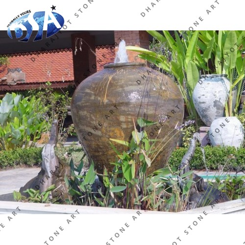 Large Pot Design Outdoor Fountains With Elephant Statue