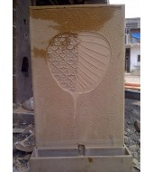 Leaf Carved Sandstone Slate Water Features