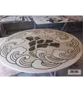Yellow Stone Round inlay Flooring