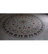 Big Round Lapis Inlay Flooring