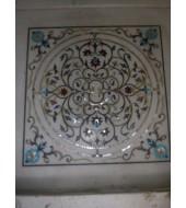 Antique Design White Marble Flooring