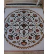 Antique Design Round Carved Inlay