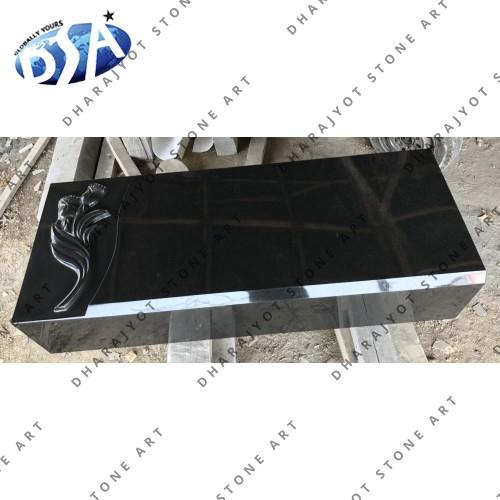 Designer Black Granite Ledger Long Base
