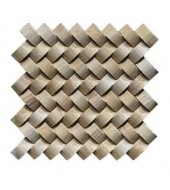 Smooth Textured White And Brown Stone Mosaic