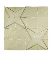 White Striking Natural Stone Texture Mosaic
