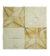 Yellow And White Striking Natural Stone Texture Mosaic