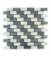 Black And White Brick Pattern Mosaic