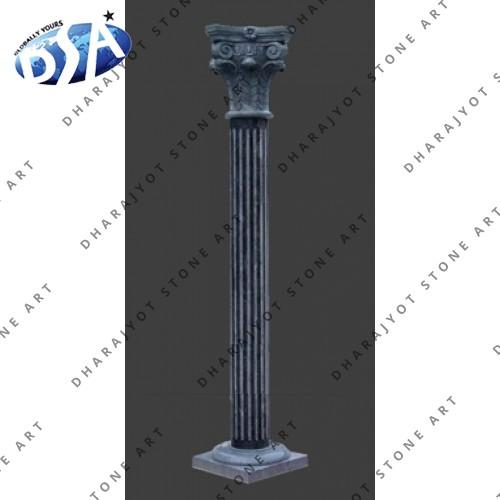 Antique Carved Granite Pillar