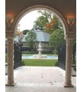 Carved Granite Pillar For Gate Decor