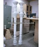 Decorative White Marble Pillar