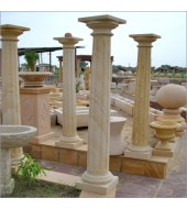 Outdoor White Polished Pillar