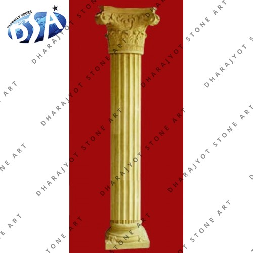Yellow Sandstone Pillar For Sale