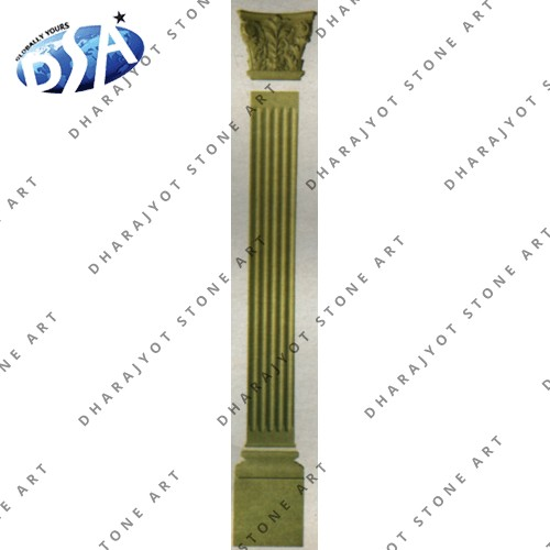Yellow Stone Pillar For Sale