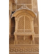 Modern Yellow Sandstone Jharokha Carving