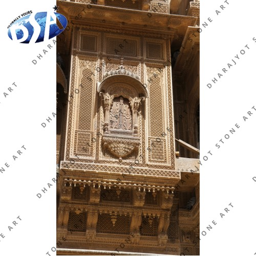Antique Sandstone Jharokha Carving