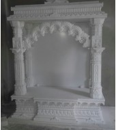 Antique White Marble Mandir For Home