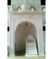 White Marble Carved Modern Temple