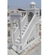 White Marble Carved Designer Temple