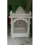 Antique Small Design White Marble Mandir