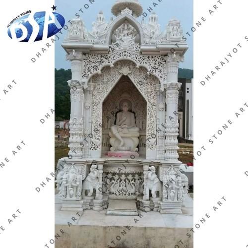 Makrana Marble Fully Hand Carved Ghar Mandir Temple
