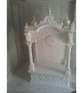 Antique White Marble Modern Mandir